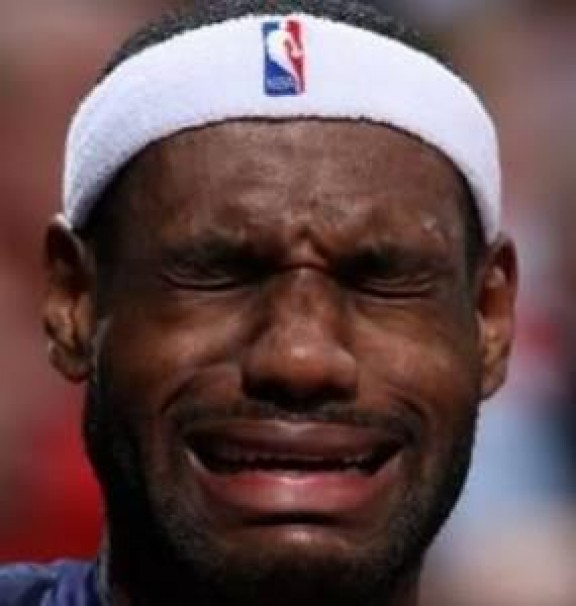 LeBron James Crying about bulls