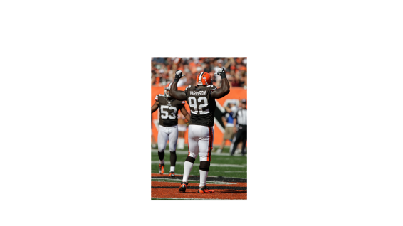 James Harrison In Browns Uniform