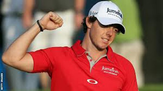 Rory McIlroy in the pga