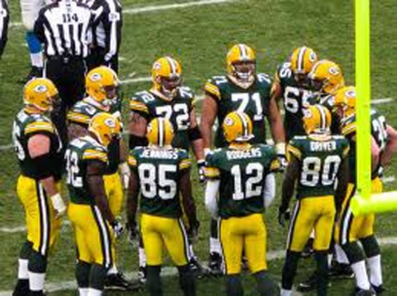 The Green Bay Packers vs Cleveland