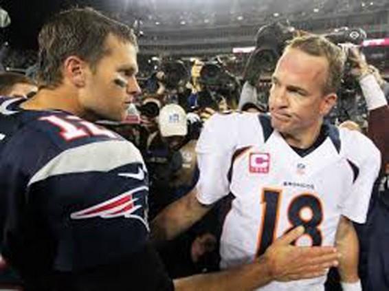 Peyton Manning & Tom Brady AFC Championship Game