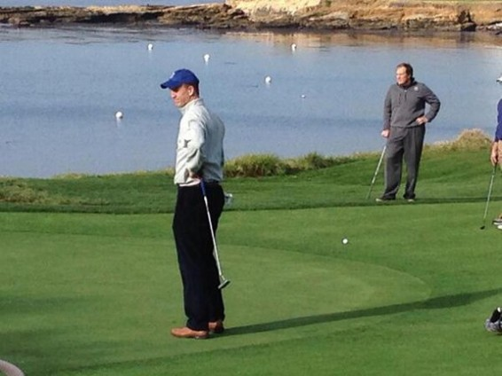 Manning & Belichick at Pebble Beach