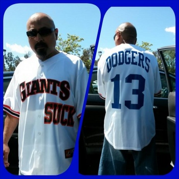 Custom jersey for Dodgers home opener