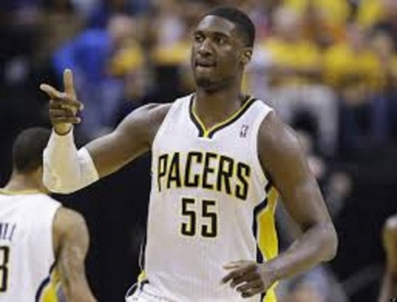Roy Hibbert and the pacers easily handled the Miami heat in game one