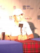 Jordan Spieth at RBC Heritage Press conference